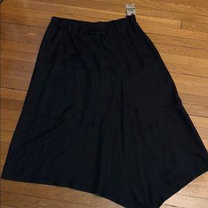 NEW pure DKNY black silk skirt